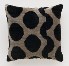 Charcoal Mu Velvet Ikat Pillow at the Madeline Weinrib NYC Sample Sale 2012 - October 24th through 28th, at 881 Broadway, Lower Level.