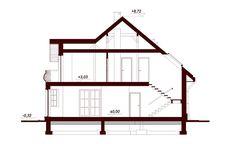 Przekrój DN Modena CE Family House Plans, Dream House Plans, Beautiful Home Designs, Beautiful Homes, Beautiful Places, Home Building Design, Building A House, Two Story House Design, Kerala House Design