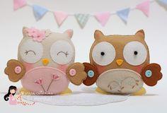 DIY Cute Felt Owls - FREE Pattern / Template