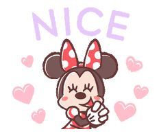 LINE Official Stickers - Minnie Mouse: Pastel Prettiness Example with GIF Animation Mickey Mouse And Friends, Mickey Minnie Mouse, Kawaii Stickers, Cute Stickers, Hug Gif, Disney Background, Cartoon Gifs, Cute Mouse, Girly Pictures