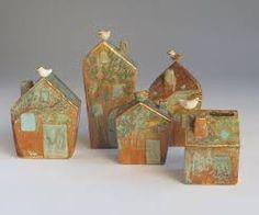 Image result for ceramic houses art