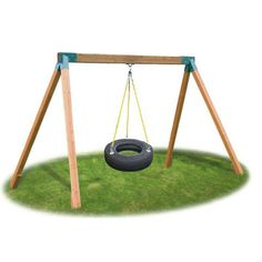 Eastern Jungle Gym Classic Cedar Tire Swing Set >>> Check out the image by visiting the link. (This is an affiliate link) Diy Tire Swing, Backyard Swing Sets, Tire Swings, Backyard For Kids, Backyard Ideas, Backyard Gym, Backyard Playset, Backyard Playhouse, Wooden Swings