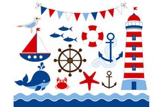 Digital Nautical Clip Art by LoveGraphicDesign on Creative Market