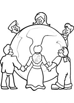 He Has The Whole World In His Hands Coloring Page