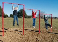 Buy SportsPlay Triple Horizontal Bar: Galvanized - Playground Fitness Equipment at Teacher Supply Source. Outdoor Gym, Outdoor Workouts, Outdoor Fitness, Outdoor School, Outdoor Ideas, Noah's Park, Fitness Trail, Fitness Courses, Punitive Damages
