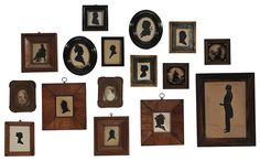 Brunk Auctions - Sixteen Assorted Antique Miniatures and Silhouettes, Honeywell