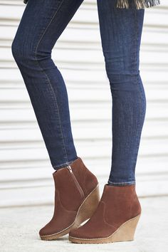 Suede wedge booties | Sole Society Gwen