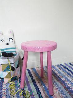 Handmade Wooden Stool by Les Petits Bohemes
