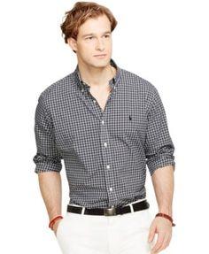 Polo Ralph Lauren Classic-Fit Plaid Poplin Shirt   macys.com