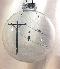 Bird In Love - Holiday Ornament from Glak Love on etsy