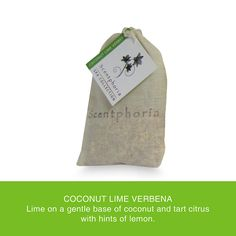Scentphoria Potpourri Sachet in Coconut Lime Verbena. Vegan, Cruelty Free, Sulfate Free and Paraben Free. Hand made in the USA.