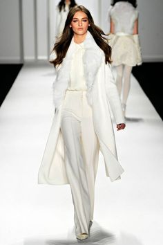 All the latest winter fashion is being showcased in Paris and Milan Fashion Week and we have noticed that white is the new black for Winter Runway Fashion, Fashion Show, Fashion Outfits, Womens Fashion, Fashion Design, Party Fashion, Milan Fashion, Fashion Fashion, Fashion Ideas