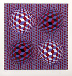 Victor Vasarely, untitled 37, Serigraph Artist: Victor Vasarely, Hungarian (1908 - 1997) Title: untitled 37 Year: circa 1979 Medium: Serigraph, signed and numbered in pencil Edition: 220/250 Image Size: 12 x 12 inches Size: 17 in. x 15 in. (43.18 cm x 38.1 cm)