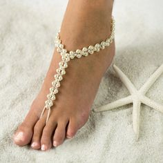 Tropical Beach Foot Jewelry Barefoot by SexyBarefootSandals, $69.00