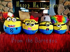 Made these cute minions with my husband and two boys!
