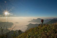 Enjoying the view from Phu Chee Fah