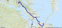 Driving Directions from [5500-5527] Aurora Dr, Virginia Beach, Virginia 23455 to Williamsburg, Virginia   MapQuest