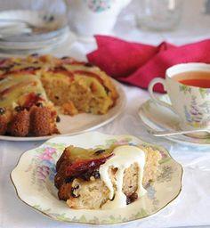 Recetas de postres: Pastel volteado de ciruela y manzana