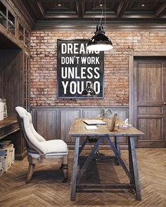 Work hard dream less  follow @royallyrustic . . . . #interiordesign #homedecor #interiordesigner #interiordecor #interiordesignideas #interiorarchitecture #rusticinterior #rusticdecor #vintagedecor #interiors #wood #floor #design #rustic #mancave  #bar #desiner