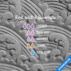 Rest and Rejuvenate Essential Oils Diffuser Blend ••• Buy dōTERRA essential oils online at www.mydoterra.com/suzysholar, or contact me suzy.sholar@gmail.com for more info.