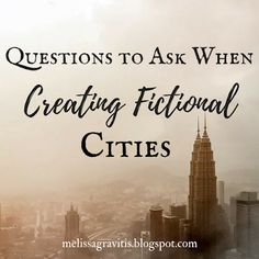 Quill Pen Writer: Questions to Ask When Creating Fictional Cities // read later Creative Writing Tips, Book Writing Tips, Writing Quotes, Writing Process, Fiction Writing, Writing Resources, Writing Help, Writing Skills, Writing Workshop