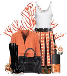 """""""coral"""" by mayakhan007 ❤ liked on Polyvore"""