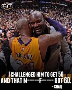 Shaq challenged Kobe last night... and of course, Kobe rose to the occasion. (via Rachel Nichols)