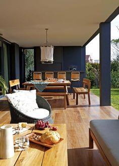 Bungalow Haus Design, House Design, Home Renovation, Home Remodeling, Porch Bar, Casa Loft, Casa Patio, Interior Design Kitchen, Outdoor Dining
