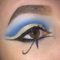 week 4 Egyptian makeup images- The eyeliner in this example resembles the shape of the ankh symbol.