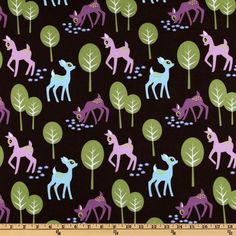 Purple and Blue Deer by Michael Miller ~Custom Made~ Fitted Crib/Toddler Bedding Items by MyGeekISChic on Etsy