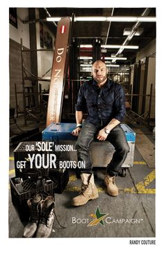 Randy Couture supports our TROOPS!     http://www.bootcampaign.com/