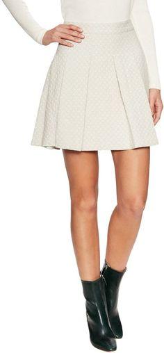 fd8fd8081fbfd Derek Lam 10 Crosby Women's Cotton Box Pleated A Line Skirt Cotton Box,  Cotton Skirt