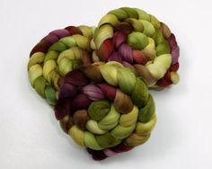 Australian Merino Wool Roving - Micron - Handpainted Fiber for Spinning or Felting Wool Felting, Needle Felting, Spinning Yarn, Hand Dyed Yarn, Toad, Merino Wool, Plum, Nom Nom, Hand Painted
