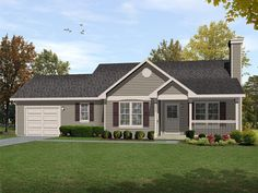 Story Houses Rafael Ranch Home Plan 058D 0186 House Plans And More