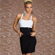 New arrival 2014 fashion women's spaghetti strap sweetheart top bandage sexy bodycon cocktail dress #962 high qualtiy