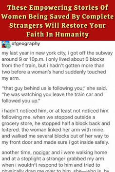 #Empowering #Stories #Women #Complete #Strangers #Restore #Faith #Humanity