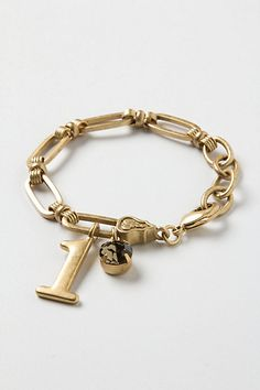 Vintage Number Charm Bracelet #anthropologie