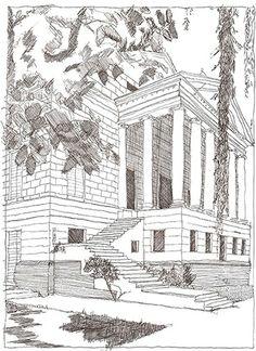 Palladio sketch of basilica san giorgio maggiore venice - British institute milano porta venezia ...