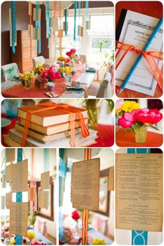 Book Club party book exchang, book parti, ribbon, book pages, book theme, book clubs, book club books, parti idea, graduation parties