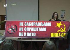 НАТО убице напоље из Србије!!! (фото, видео)  Група левичарских активиста данас је протестовала против одржавања вишедневног међународног студентског скупа СИМ НАТО, који је у Београду окупио око стотину учесника из 50 земаља.  Учесници протеста су организаторе к