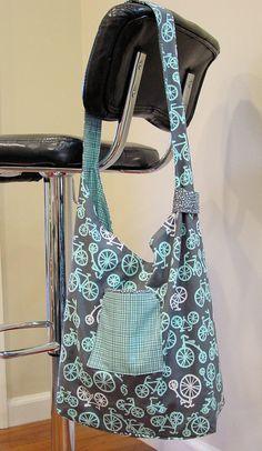 Sling bag with bicycle print