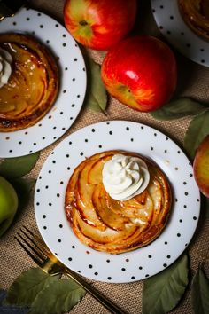 Elegant and easy, these apple tarts are the perfect finish to your next dinner party.