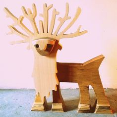 sculpture bois chantourné cerf 3 essences : Sculptures, gravures, statues par 2-5d