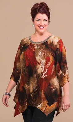 We sell comfortable, stylish Plus Size Clothing for women size to including extended & super size shirts, blouses, pants, underwear. Plus Size Blouses, Plus Size Tops, Plus Size Dresses, Plus Size Outfits, Big Size Fashion, Plus Size Fashion For Women, Boho Fashion Over 40, Over 50 Womens Fashion, Fall Fashion Trends