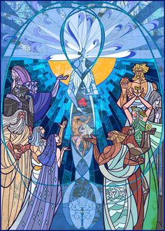 music of Ainur by breathing2004.deviantart.com on @deviantART The Silmarillion and other works of Tolkien stained glass
