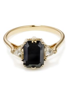Say I Do To The Coolest Alternative Wedding Rings Ever.... gorgeous! I so want a black diamond wedding ring!