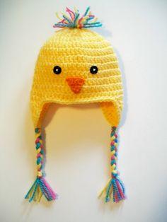 Crochet Baby Bird Chick Hat Beanie