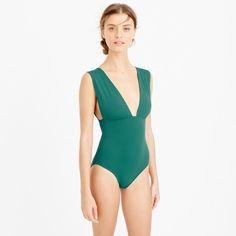 8ea787bbac women s plunge v-neck one-piece swimsuit - women s swim J Crew Summer