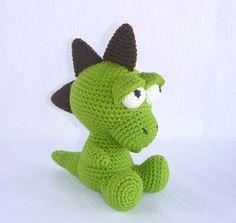 Amigurumi Dinosaur Baby Dragon Crochet Dinosaur by MWHandicrafts
