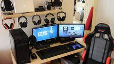 Gaming Computer Setup, Best Gaming Setup, Gaming Room Setup, Gaming Rooms, Pc Setup, Desk Setup, Gaming Desktops, Gamer Setup, Gaming Pcs